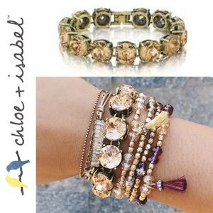 🆕 Color Code Light Topaz Bracelet c+i B223TZ